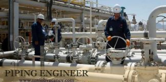 Piping Engineer Job Vacancy