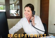Receptionist latest job openings