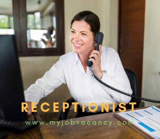 Receptionist latest job openings
