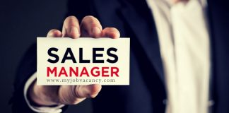 Sales Manager Job Vacancies