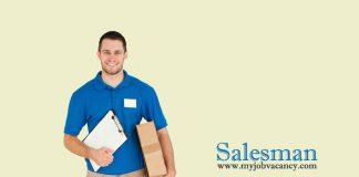 Salesman job vacancy