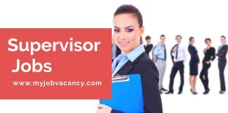 Supervisor job vacancies updates