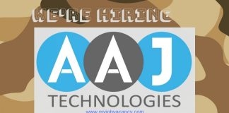 Aaj Technologies Job Vacancies