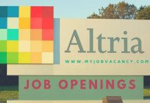 Altria Group Job Vacancies