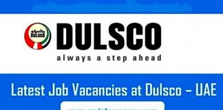 Dulsco UAE Job Vacancies