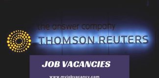 Thomson Reuters Job Vacancies