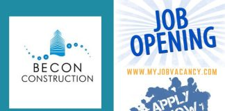 BECON Construction Job Vacancies