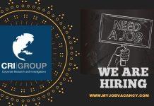 CRI Group Job Vacancy