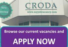 Croda Latest Job Opportunities