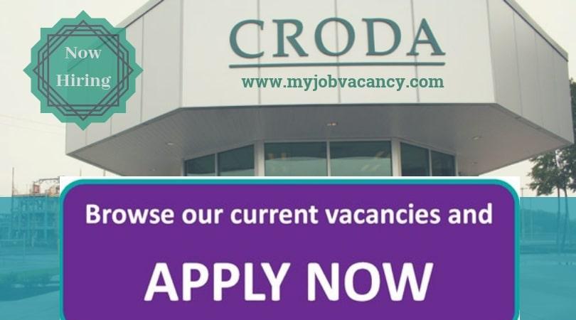 Croda Latest Job Opportunities - Get Croda Job Vacancies Here!