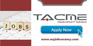 TACME Latest Job Vacancies